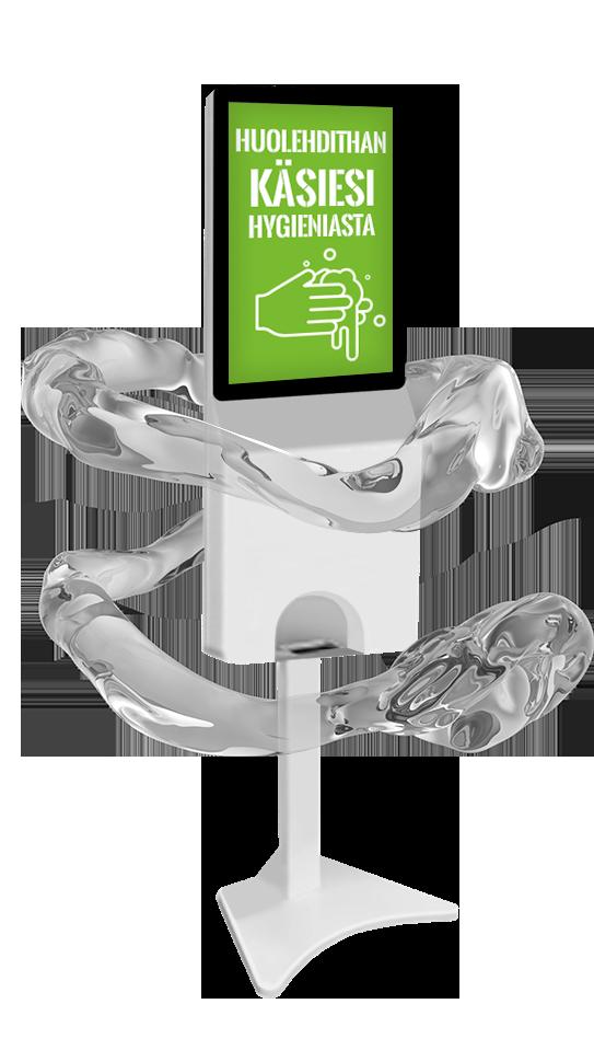 Vivotech s22 laite joka desinfioi asiakkaiden kädet julkisissa tiloissa